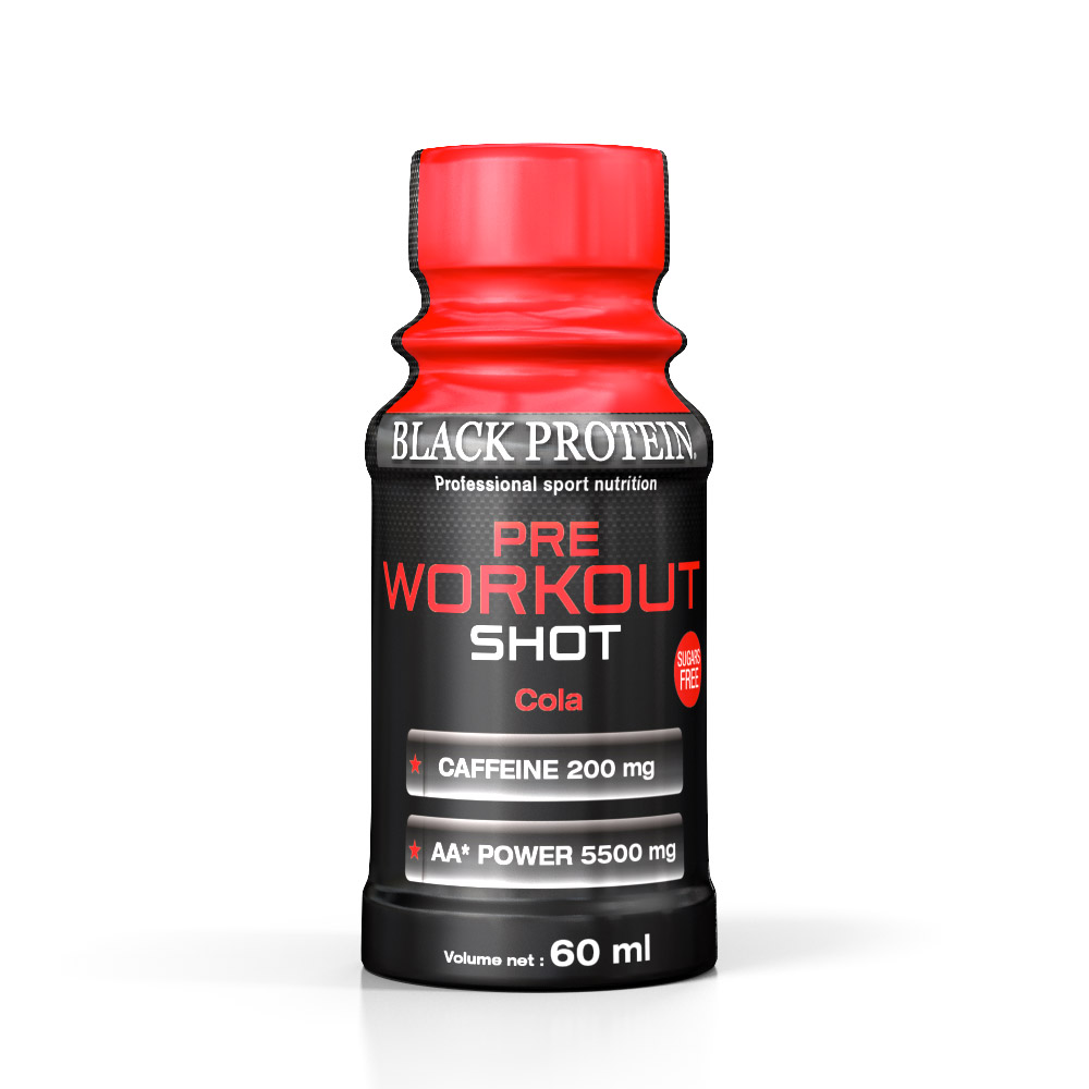 Black-Protein PRE WORKOUT SHOT