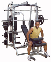 Smith machine e Squat Bodysolid Smith Machine Série 7 Full Options