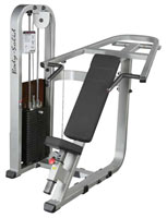 Posto peitorais e ombros Bodysolid Club Line Press inclinada Pro
