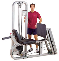 Posto de pernas e coxas Bodysolid Club Line Leg Press Machine Press de Pernas Horizontal