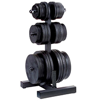 Suportes discos e Racks Olympic Weight Tree & BarHolder Bodysolid - Fitnessboutique
