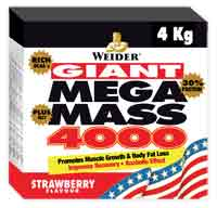 Gainer - aumento de massa Weidernutrition Giant Mega Mass 4000